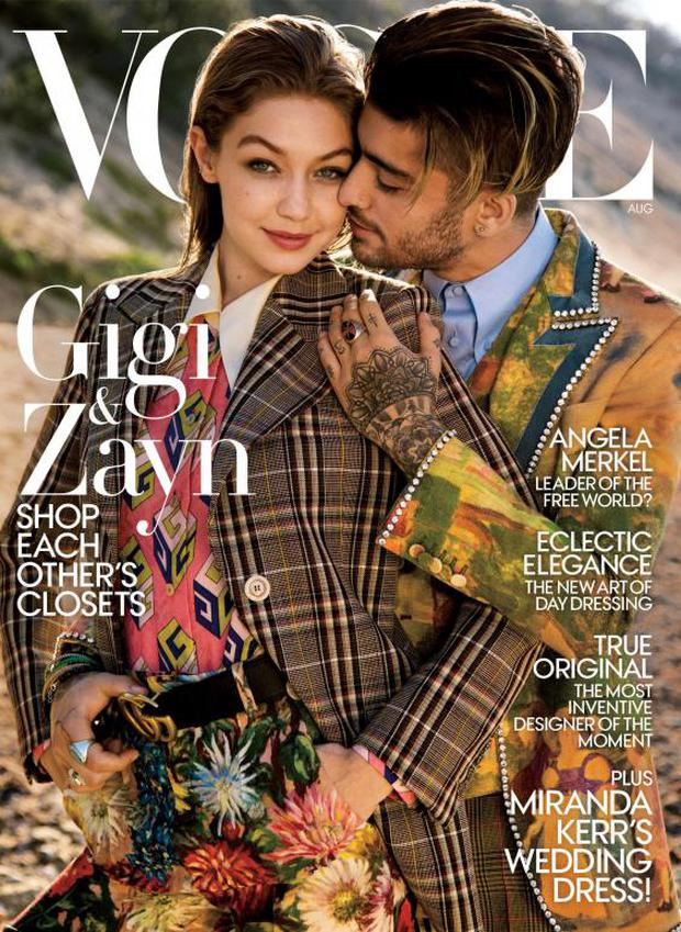 Gigi and Zayn Malik appeared on the cover of US Vogue