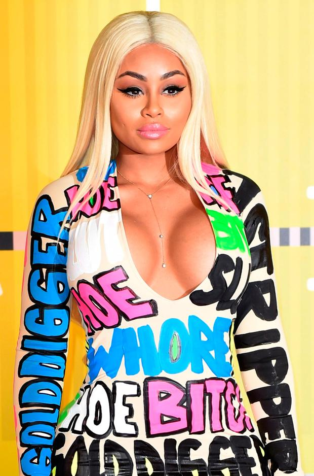 Blac Chyna arrives on the red carpet at the MTV Video Music Awards (VMA), August 30, 2015 at the Microsoft Theater