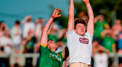 Kevin Feely is one of three former professional athletes in the Kildare team, along with Daniel Flynn and Paddy Brophy Photo: Sportsfile