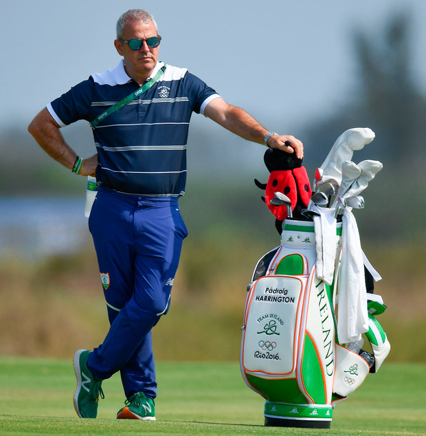 Team Ireland golf captain Paul McGinley during a practice round ahead of the Men's Strokeplay competition at the Olympic Golf Course, Barra de Tijuca, during the 2016 Rio Summer Olympic Games in Rio de Janeiro. Photo: Brendan Moran/Sportsfile