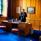 On a mission: Taoiseach Leo Varadkar, in his office in Government Buildings, has laughed off accusations of 'style over substance' and has vowed to 'reward work and reward enterprise through targeted but modest tax reductions' Photo: David Conachy
