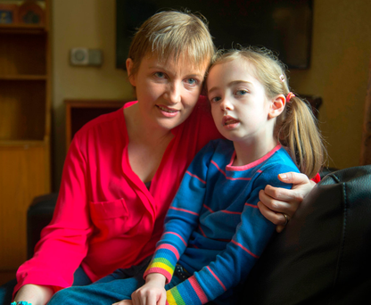 Campaigning: Vera Twomey with her seven-year-old daughter Ava Photo: Michael Mac Sweeney