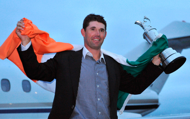 Pádraig Harrington celebrating his Open victory in 2008. Photot: Pat Murphy/Sportsfile