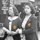 Marked: Two French women wearing the Star of David in France, 1942