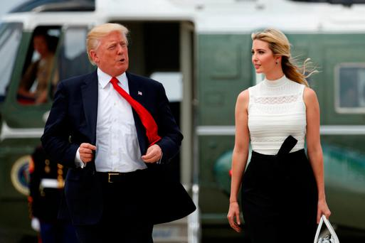 US President Donald Trump and his daughter Ivanka Photo: REUTERS/Kevin Lamarque