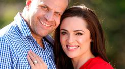 Television personality: Grainne Seoige and her partner Leon Jordaan Photo: Gerry Mooney