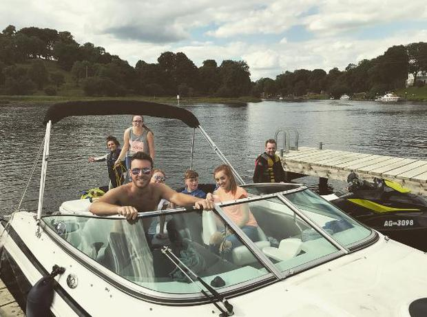 Nathan Carter spent his day off on Lough Erne in Fermanagh