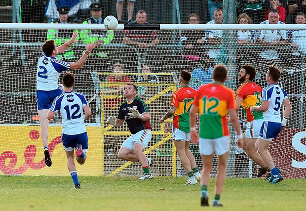 Fintan Kelly scores Monaghan's goal. Photo: David Maher/Sportsfile