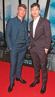 Cillian Murphy and Barry Keoghan at the premiere Photo: Brian McEvoy