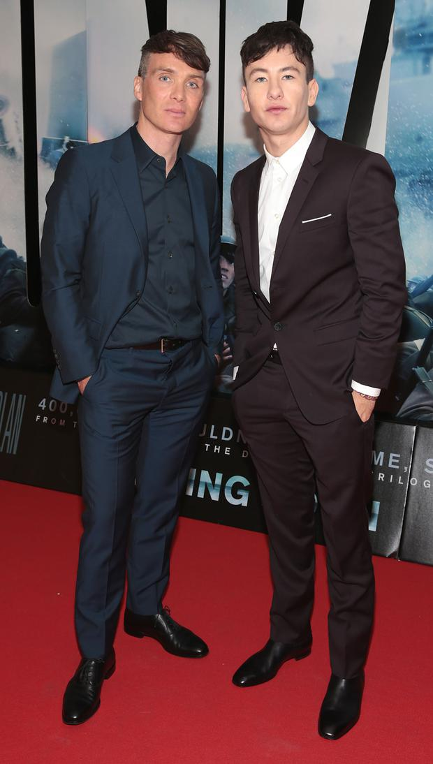 Cillian Murphy and Barry Keoghan at the Dublin Premiere of the film Dunkirk at the Lighthouse Cinema,Dublin. Picture Brian McEvoy
