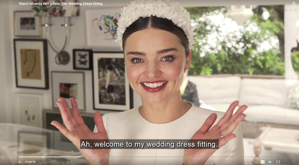 Watch Miranda Kerrs Dior Wedding Dress Fitting Is The Stuff Of