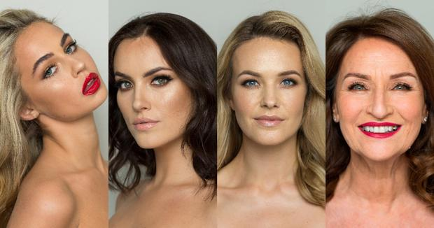Four Of Irelands Most Beautiful Women Go From Full Faced To Makeup
