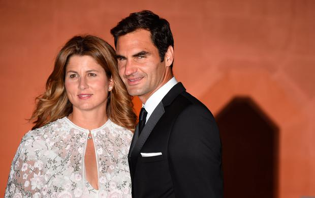 Roger and Mirka Federer arriving at the Wimbledon Champions Dinner 2017, at the Guildhall, London. Photo credit: Lauren Hurley/PA Wire