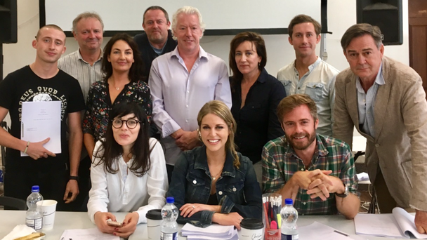 The Striking Out cast at a recent read through. PIC: RTE