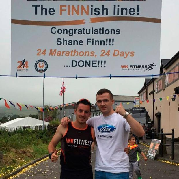 Shane raised over €100,000 by running 24 marathons in just 24 days