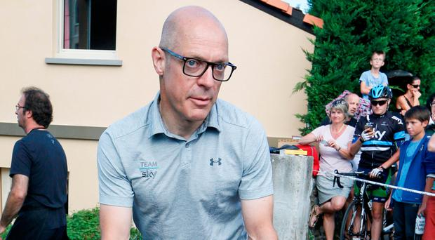 Team Sky manager David Brailsford during yesterday's rest day. Photo: Reuters/Robert Pratta