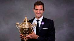 Federer: Eighth title. Photo: PA