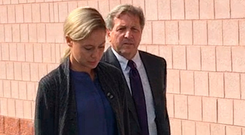 Molly Martens arrives at Davidson County Superior Court in Lexington in North Carolina yesterday as the murder trial opened