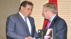 Minister for Agriculture, Food and the Marine, Michael Creed pictured last year on a trade mission to Morocco with his Moroccan Counterpart, the Minister for Agriculture, Mr Aziz Akhannouch.