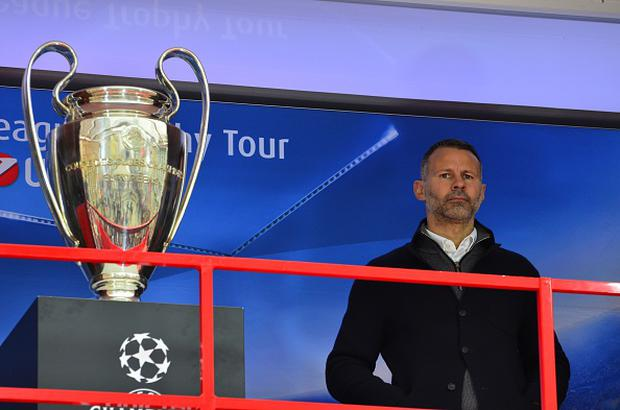 Ryan Giggs during the UEFA Champions League Trophy Tour at Ban Josip Jelacic square in Zagreb, Croatia on 22nd October 2016. (Photo by Alen Gurovic/NurPhoto via Getty Images)