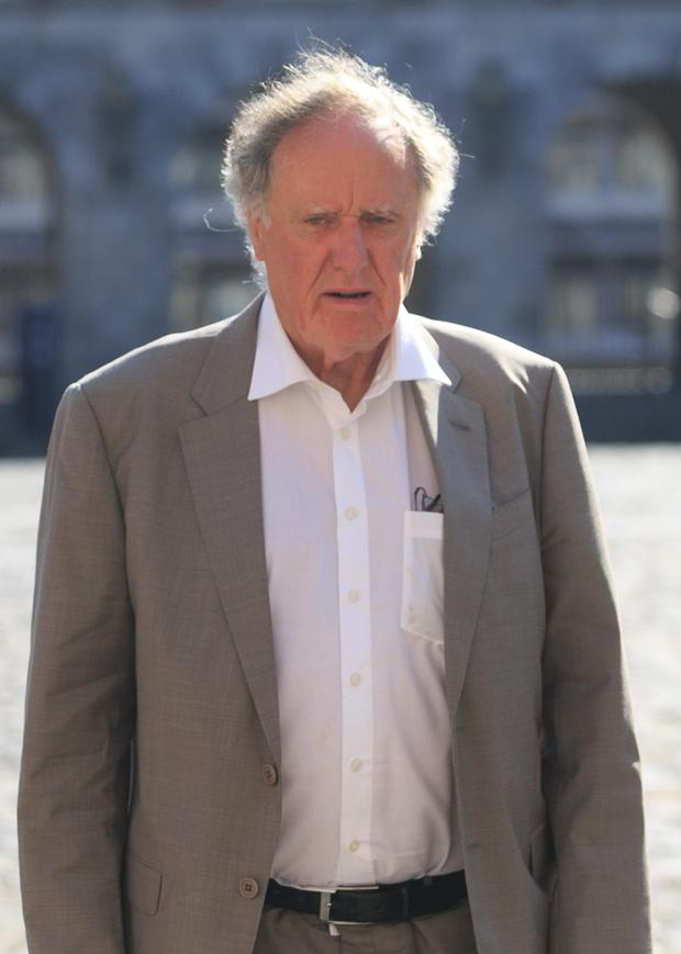 Broadcaster Vincent Browne at the The Disclosures Tribunal in Dublin Castle