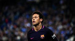 Neymar Jr. during the match between RCD Espanyol and FC Barcelona, on April 29, 2017. (Photo by Urbanandsport/NurPhoto via Getty Images)