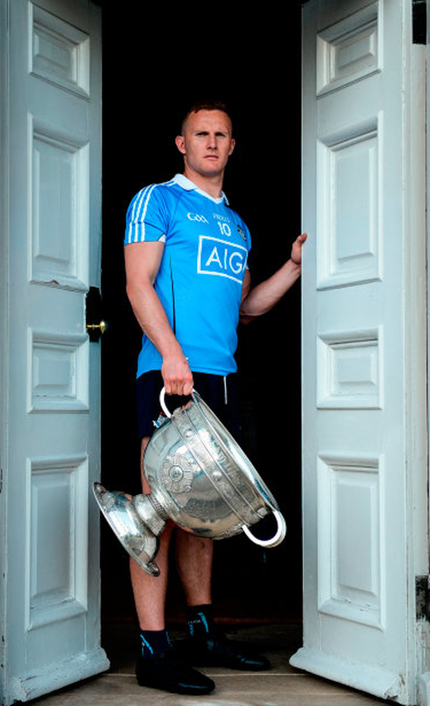 Dublin's Ciarán Kilkenny was pictured at the All-Ireland Senior Championship Series National launch at The Argory in Tyrone. Photo: Sportsfile