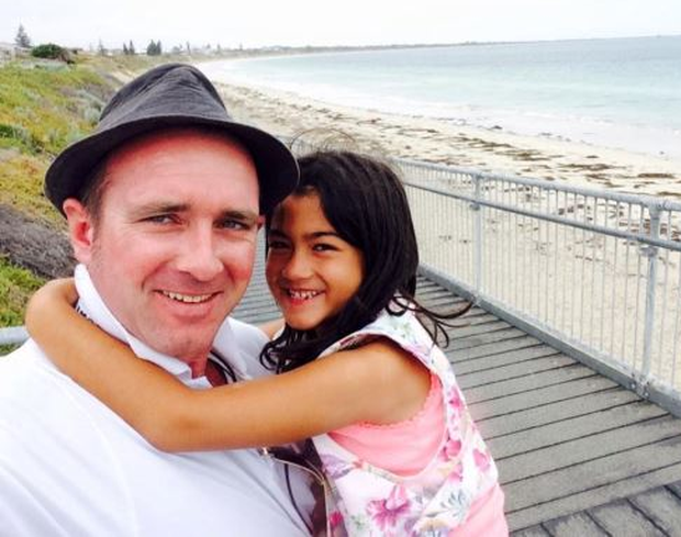 David Conway pictured with his daughter Keisha