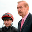 Dermot Weld (right) with jockey Pat Smullen at Galway last year – the veteran trainer says he won't have as many runners at Ballybrit as usual. Photo: Sportsfile