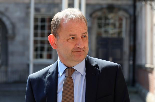 Maurice McCabe at the Disclosures Tribunal in Dublin Castle. Photo: Collins