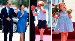 Royal Europe Tour: Kate Middleton and Prince William, Prince George and Princess Charlotte in Germany