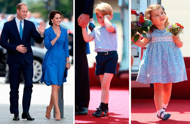 6eb30099c Royal Europe Tour: Kate Middleton and Prince William, Prince George and Princess  Charlotte in