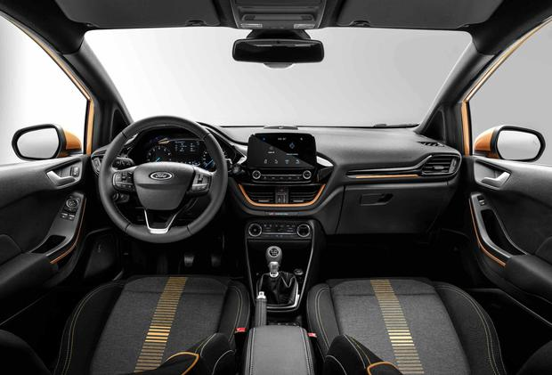 The interior of the new Ford Fiesta