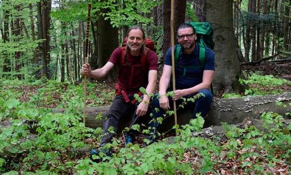 (L-R) Sepp and Eamonn are trekking across Europe to raise money for dementia research