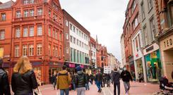 Long-term rental growth potential is driving investor demand for Dublin's prime high streets of Grafton Street (pictured) and Henry Street