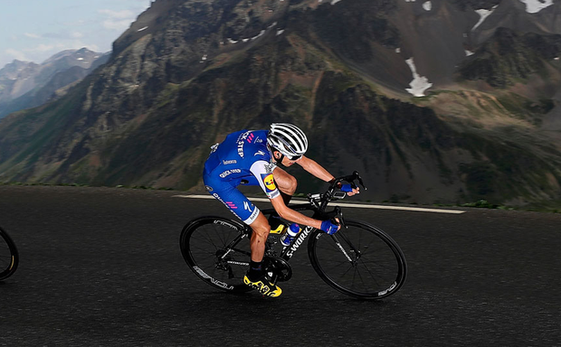 Ireland's Dan Martin (Quick Step-Floors) descends the Col du Galibier on Stage 17 of the Tour de France. Photo: Bryn Lennon/Getty