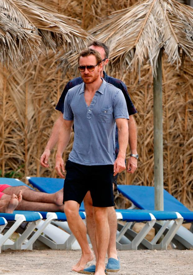 Michael Fassbender enjoys Ibiza