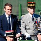 French President Emmanuel Macron and General Pierre de Villiers at the Bastille Day parade last week. Photo: Charles Platiau/Reuters