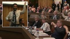 The new leader of the council at the centre of the Grenfell Tower fire was heckled and booed as she addressed survivors and local residents at a public meeting.