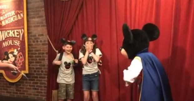 Mickey Mouse tells kids their adoption date, happy tears ensue