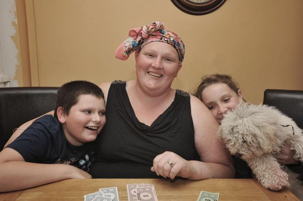 Carol Haslam with her children Daniel (10) and Niamh (11)