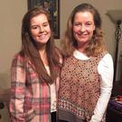 Danielle Wilson (19) pictured with her late mum