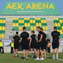 Cork City players before the UEFA Europa League Second Qualifying Round Second Leg match between AEK Larnaca and Cork City at the AEK Arena in Larnaca, Cyprus. Photo by Doug Minihane/Sportsfile