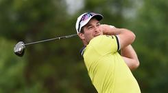 Ryan Fox of New Zealand tees off. (Photo by Tom Dulat/Getty Images)