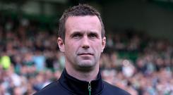 Ronny Deila Celtic Manager looks on during the Ladbroke Scottish Premiership match between Celtic and Aberdeen at Celtic Park on May 8, 2016 in Glasgow, Scotland. (Photo by Ian MacNicol/Getty Images)