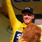 Chris Froome emerged from the final mountain test of the Tour still in yellow. Photo: AP Photo/Peter Dejong