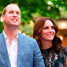 Britain's Princess Kate, the Duchess of Cambridge, and Britain's Prince William, Duke of Cambridge arrive for a reception at 'Claerchens Ballhaus' dance hall in Berlin, on the second day of the British royal couple visit to Germany, on July 20, 2017 in Berlin. / AFP PHOTO / dpa / Britta Pedersen / Germany OUTBRITTA PEDERSEN/AFP/Getty Images