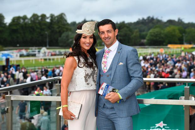 Aidan O'Mahony with his wife Denise Healy at Ladies Day at Killarney Races. Picture: Domnick Walsh