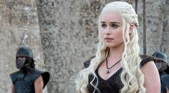 Emilia Clarke as Khaleesi in Game of Thrones