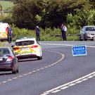 Scene of a fatal road traffic accident near Aclint between Ardee and Carrickmacross this morning.